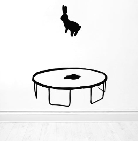 Bouncing Rabbit Wall Sticker