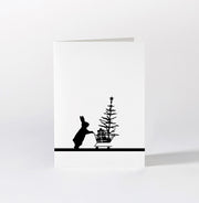 Christmas Shopping Rabbit Card