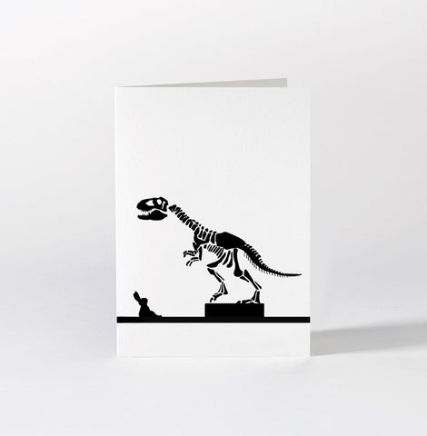 Dinosaur Rabbit Card