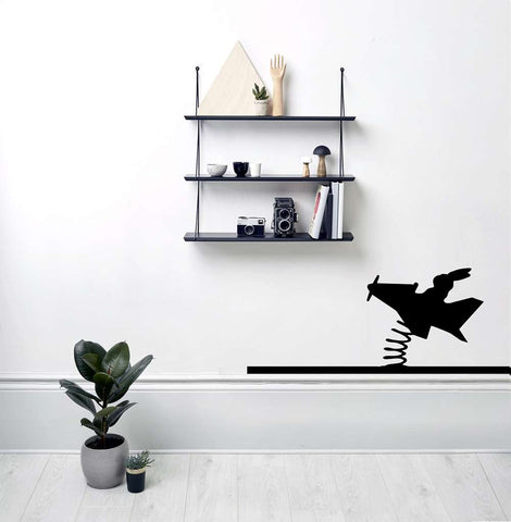 Flying Rabbit Wall Sticker