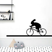 Racing Bike Rabbit Wall Sticker