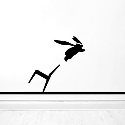 Superhero Rabbit Wall Sticker