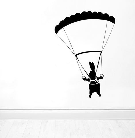 Parachute Rabbit Wall Sticker