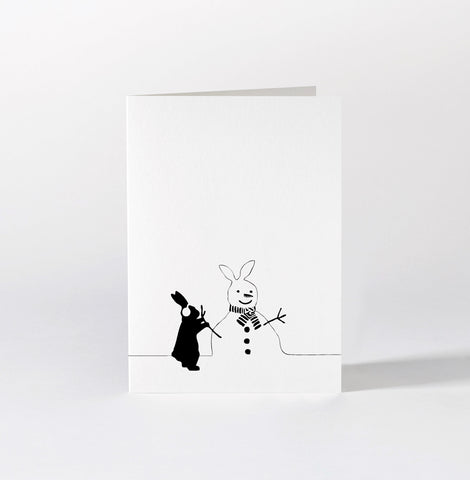 Snowman Rabbit Card