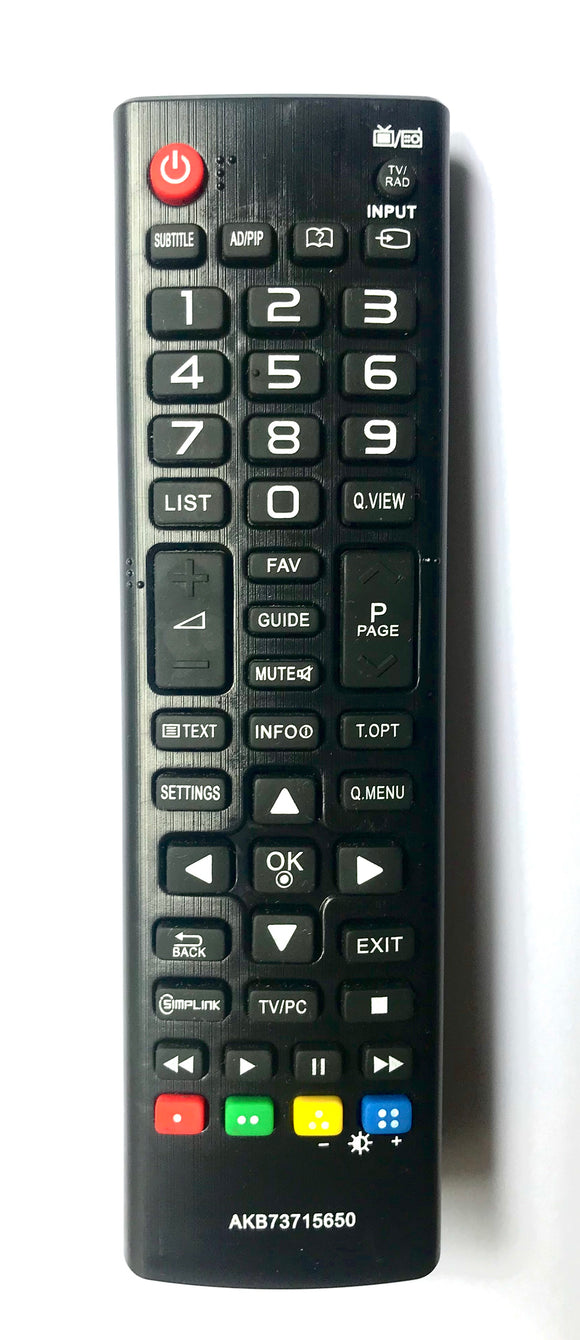 TV LG Remote Control Replacement for LG AKB73715650