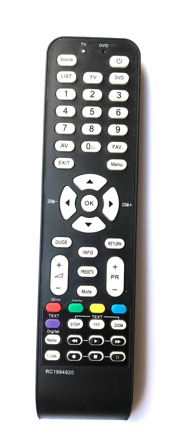 New Replacement Remote Control for Thomson TCL RC1994920 RC1994906 RC1994925