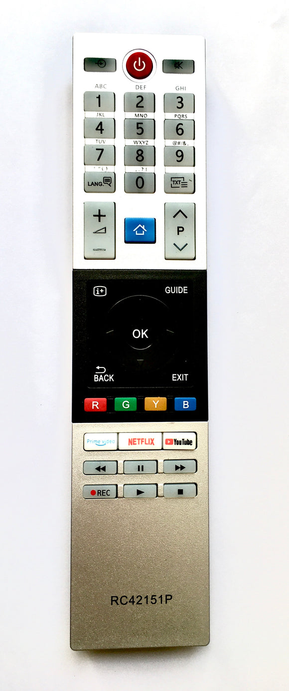 TV Remote Control Toshiba Replacement CT-8543 / RC42151P