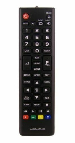 TV LG Remote Control Replacement for LG AKB74475403 LED LCD Plasma FHD UHD TV's