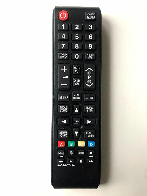 TV Samsung Remote Control Replacement AA59-00743A for Samsung UE46F6100