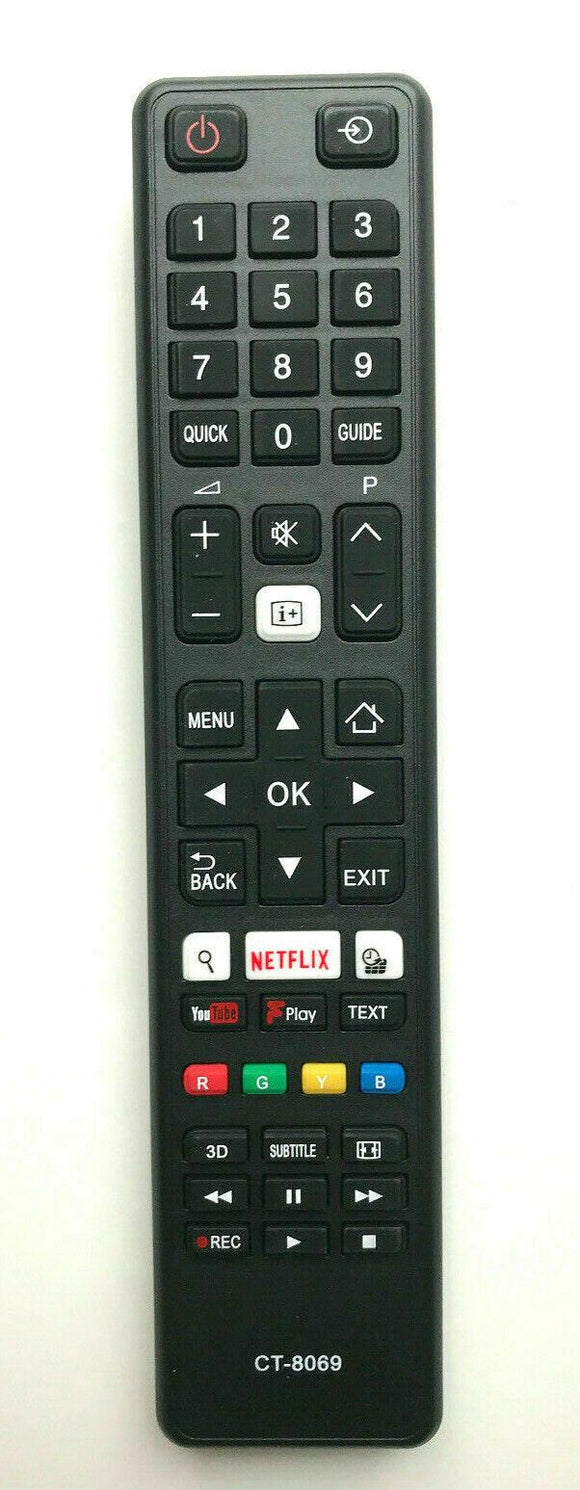 New Replacement Remote Control TOSHIBA CT-8069 Perfect Remote Shop UK