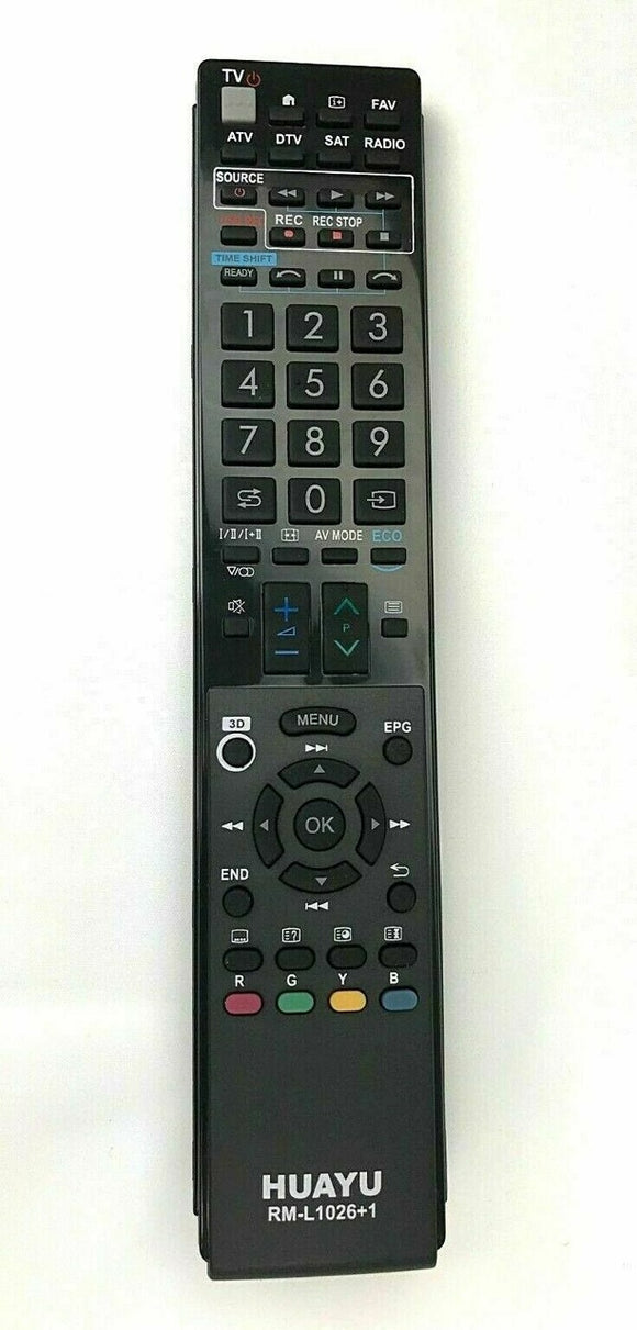 New TV Remote Control for Sharp AQUOS TV GA903WJSA RM-L1026 Perfectremote uk shop world  - television, tv remote control
