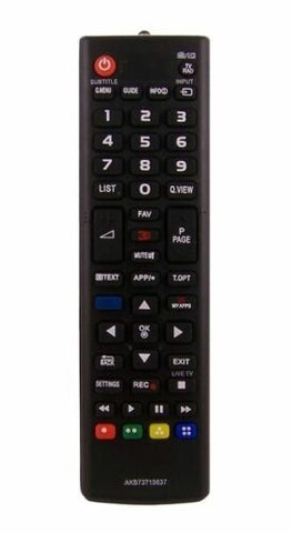 TV LG Remote Control Replacement for TV LG AKB73715637 - AKB73975729 3D SMART MY APPS