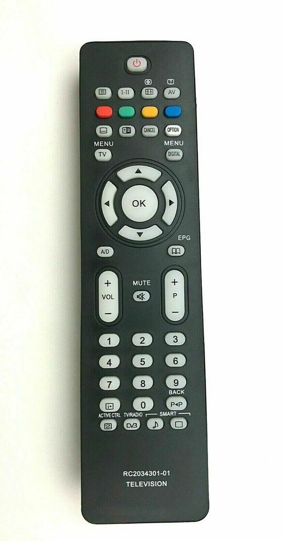 Remote Control For Philips TV 42PFP5532D 47PFL5522D 47PFL7642D RC2034301-01 tv remote control replacement uk shop perfectremote