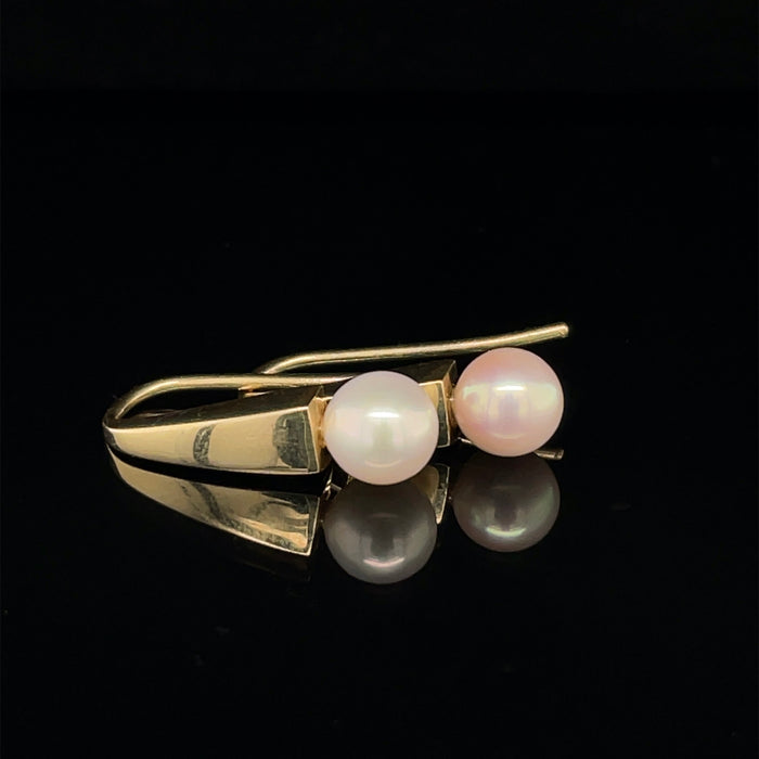 9ct Gold Earrings with Pearl