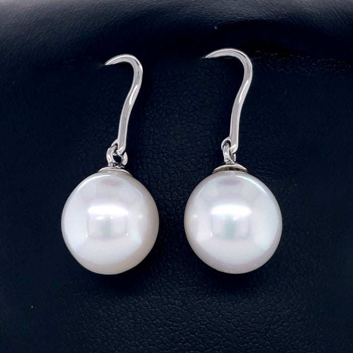18ct White Gold Earring with 12mm South Sea Pearl