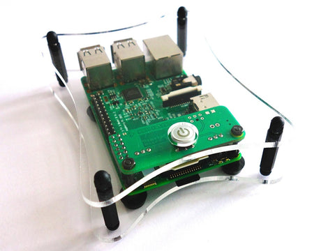 Open Case for RemotePi Board for Pi 4B, Pi 3B+, Pi 3B, Pi 2B and Pi 1B+