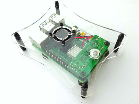 Open Case with Fan for RemotePi Board for Pi 4B