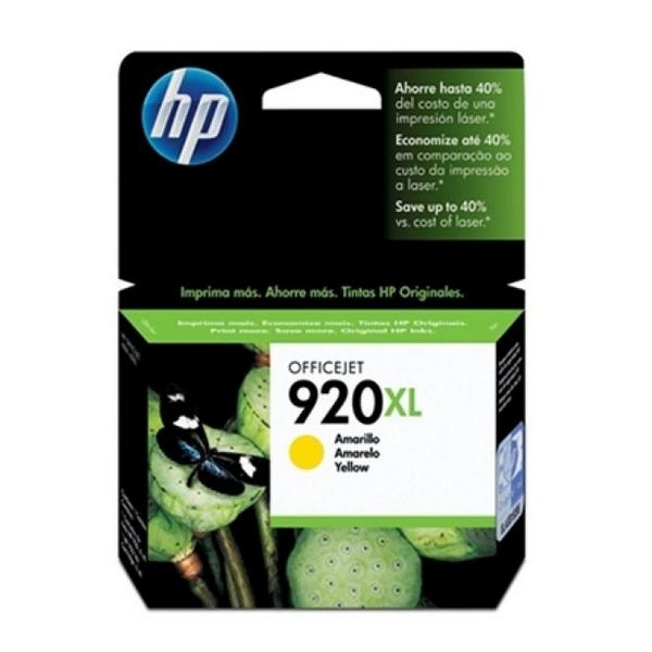 Originele inkt cartridge Hewlett Packard CD974AE Geel