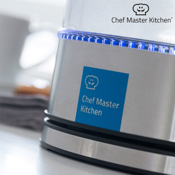 Waterkoker Chef Master Kitchen LED 1,7 L 1850-2200W Staal Transparant