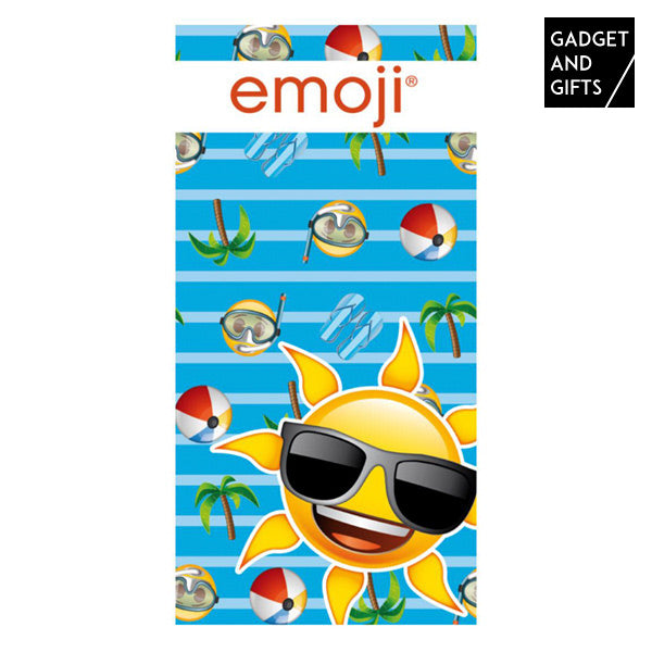Gadget and Gifts Sun Emoticons Strandhanddoek