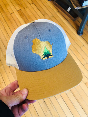 Wisconsin Evergreen Tree Trucker Hat