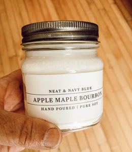 Apple Maple Bourbon Hand Poured Soy Candle
