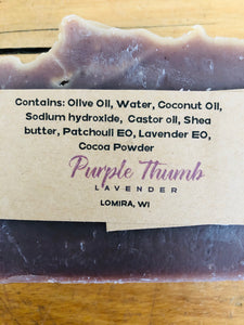 Patchouli Lavender 4oz bar soap