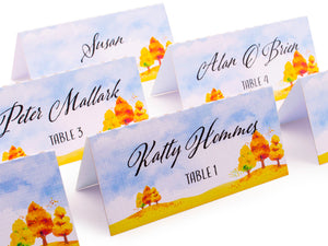 Fall Theme Personalized Place Cards