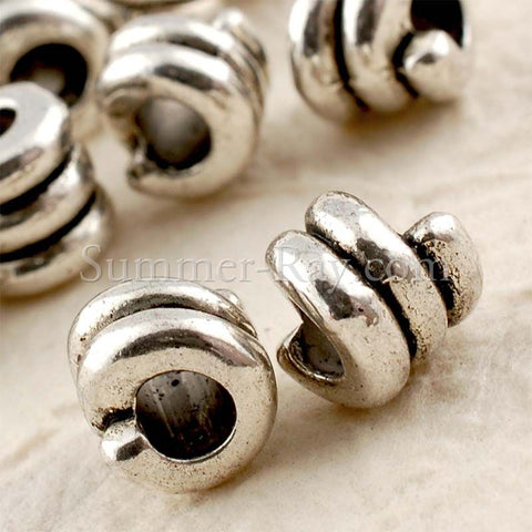 Tibetan Silver Spacer Beads - Coiled 25 pieces