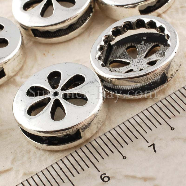 Tibetan Silver Spacer Beads - Flower 10 pieces