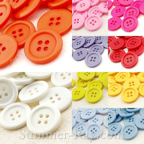 Doll Buttons 20mm (4 eye) - 50 pieces