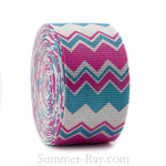 Zig Zag Stripe Printed Grosgrain Ribbon 25 mm - 5 or 10 yards