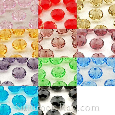 5040 Donut Glass Beads 8mm - 72 pieces