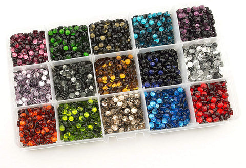 Hot Fix Rhinestones SS20 (5mm) Mixed Color In Storage Box Set (M02)