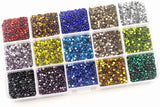 Hot Fix Rhinestones SS10 (2.8mm) Mixed Color in Storage Box - 10800 pieces (M05)