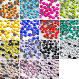 Hot Fix Rhinestones SS10 (2.8mm) Mixed Color in Storage Box - 10800 pieces
