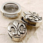 Tibetan Silver Spacer Beads - Fleur de Lis 20 pieces