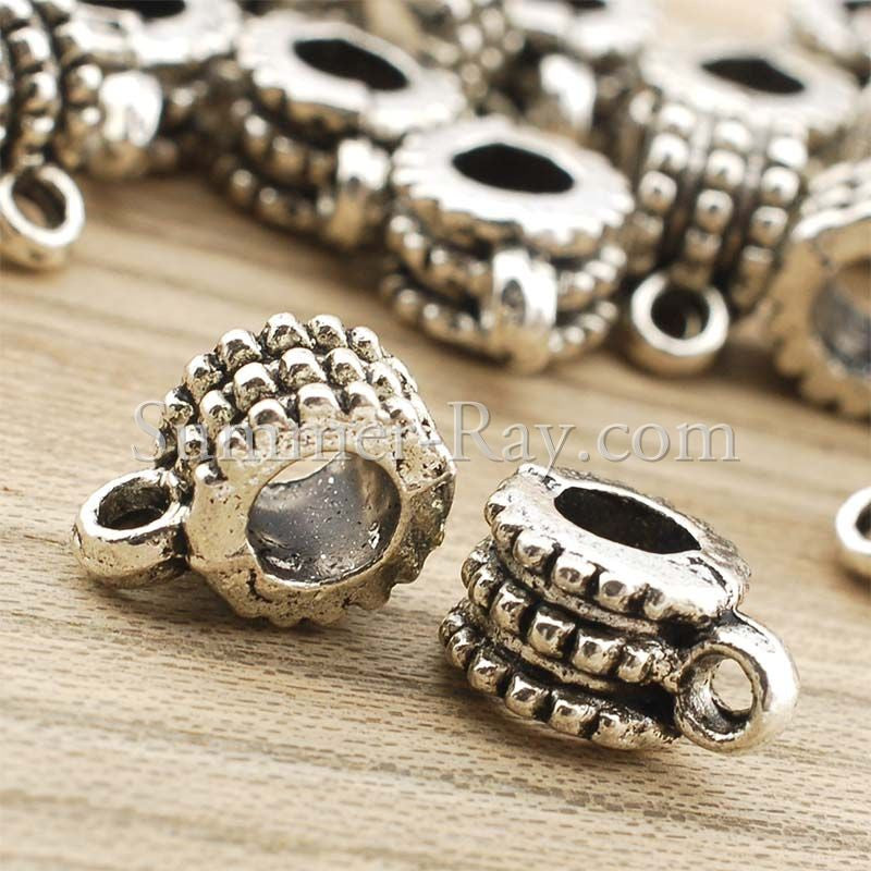Tibetan Silver Spacer Beads (T8272) - 25 pieces