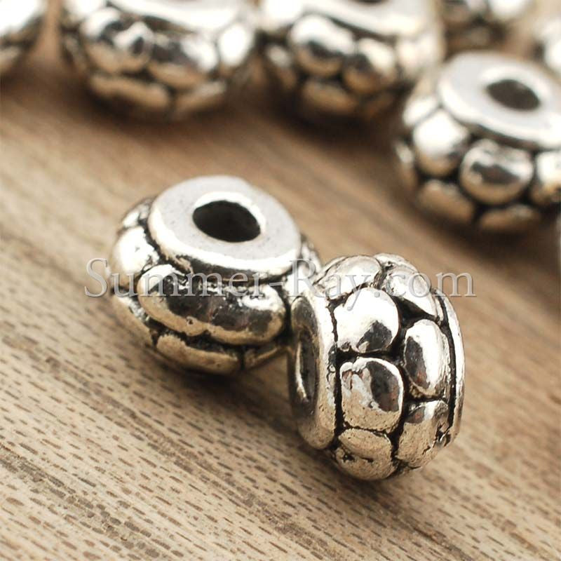 Tibetan Silver Spacer Beads (T1090) - 100 pieces