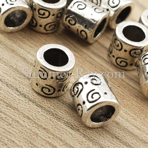 Tibetan Silver Spacer Beads (T11391) - 25 pieces