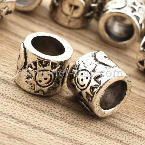 Tibetan Silver Spacer Beads (T11450) - 25 pieces