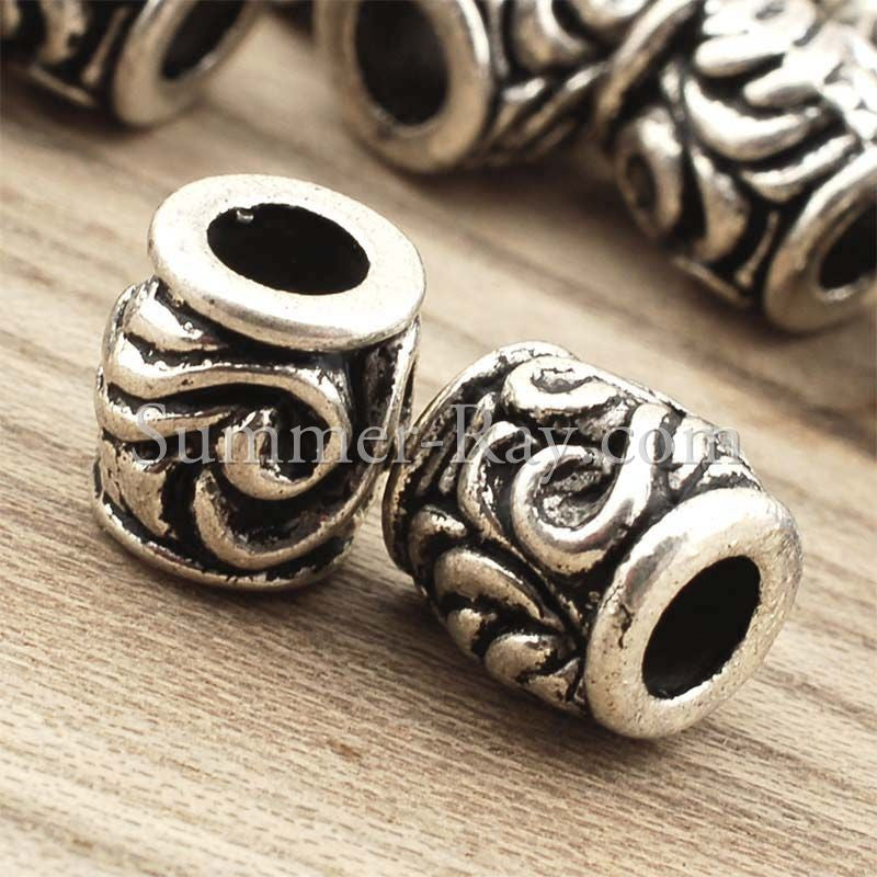 Tibetan Silver Spacer Beads (T11531) - 25 pieces