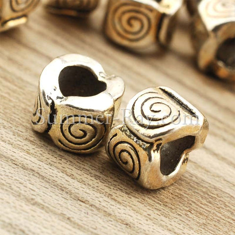 Tibetan Silver Spacer Beads (T1279) - 50 pieces