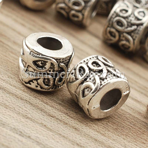 Tibetan Silver Spacer Beads (T1373) - 25 pieces