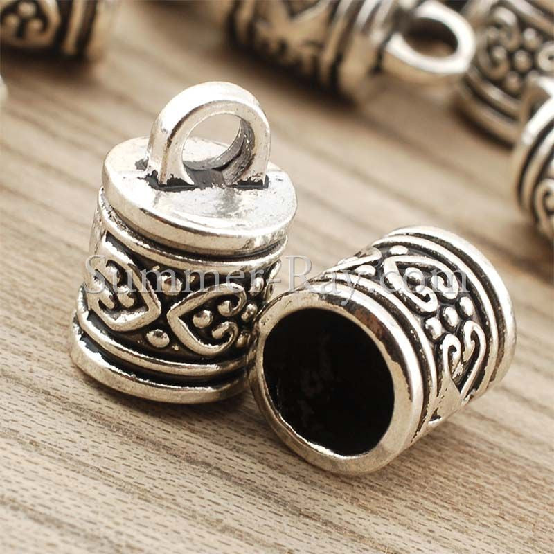 Tibetan Silver Spacer Beads (T1385) - 20 pieces