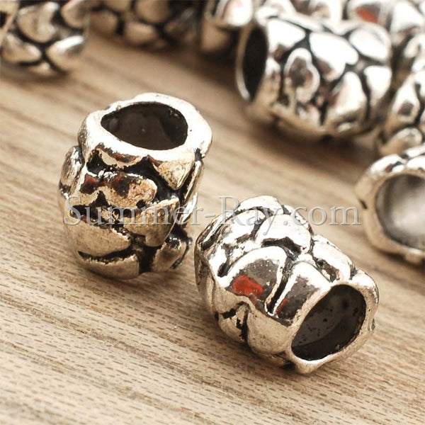 Tibetan Silver Spacer Beads (T1444) - 50 pieces