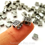 Tibetan Silver Spacer Beads (T1512) - 100 pieces