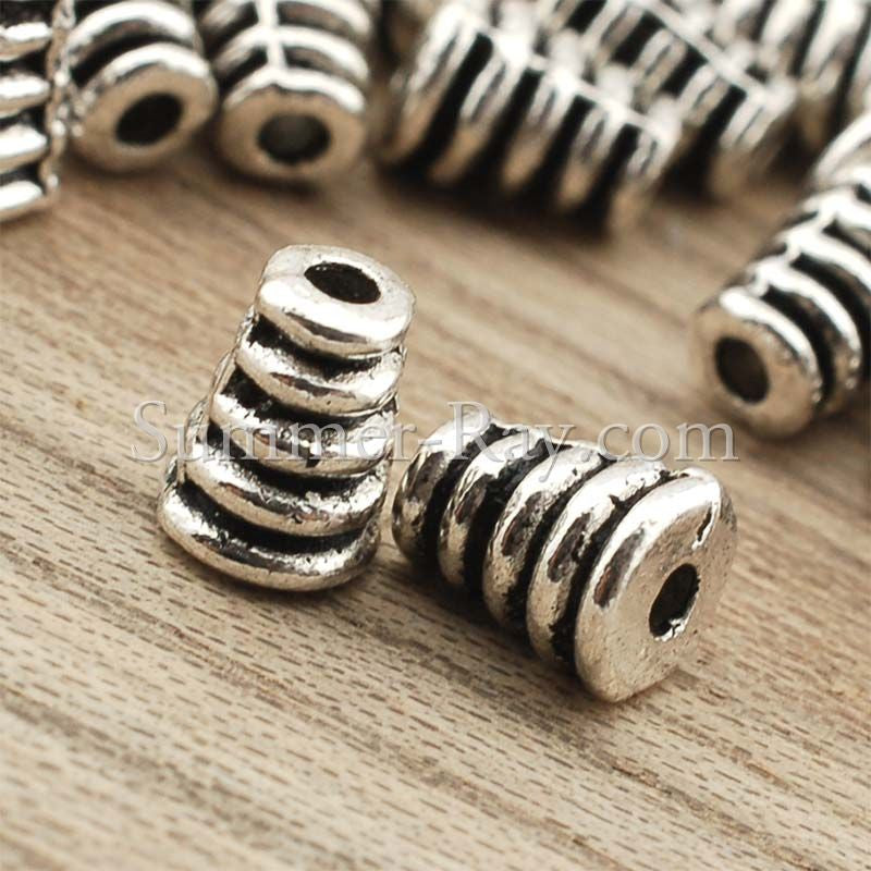 Tibetan Silver Spacer Beads (T1514) - 100 pieces