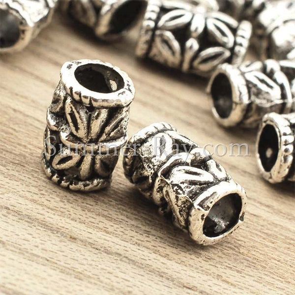 Tibetan Silver Spacer Beads (T261) - 50 pieces