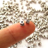 Tibetan Silver Spacer Beads (T404) - 300 pieces